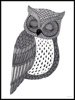 Poster: Sleeping owl, by Tovelisa