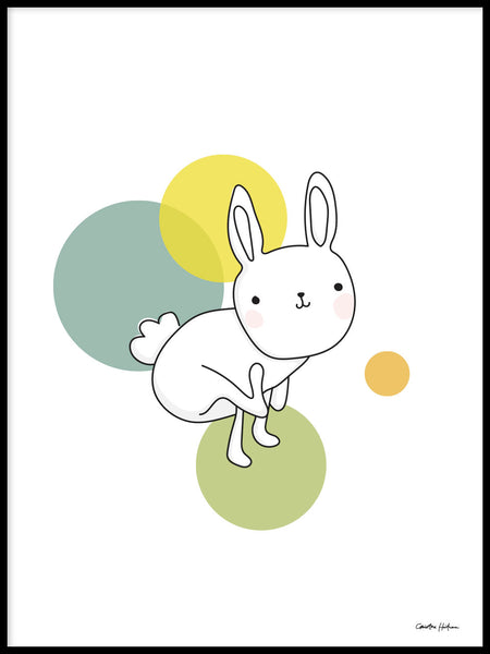 Poster: Space Rabbits: Luna, by Christina Heitmann