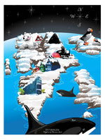 Poster: Spitsbergen, by Ekkoform illustrations