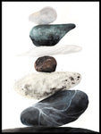Poster: Rocks from the beach, by EMELIEmaria