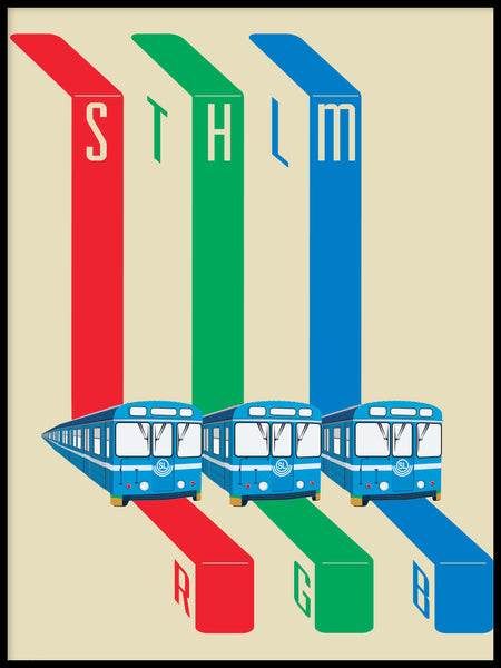 Poster: STHLM RGB, by Pop-in Local graphics
