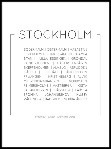 Poster: Stockholm, by Lucky Me Studios