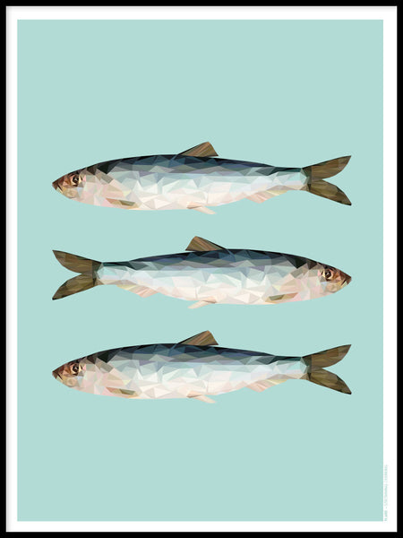Poster: Baltic Herring, by Plurr - from skärgården with love