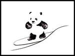 Poster: Surfing Panda, by Cora konst & illustration