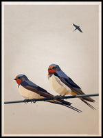 Poster: Swallows, by Lisa Hult Sandgren