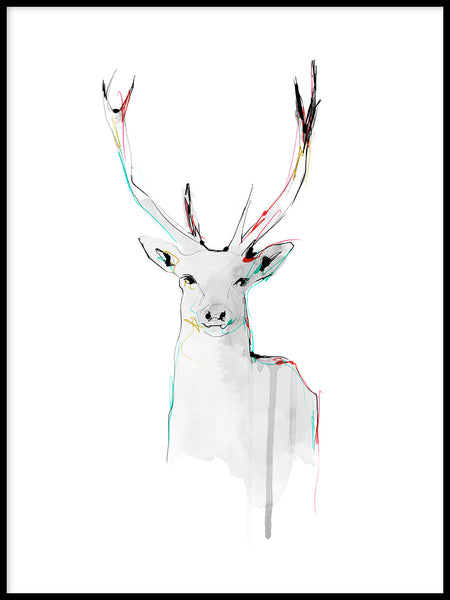Poster: The Deer, by Lotta Larsdotter