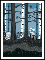 Poster: The forest, by Jenny Wallmark designstudio