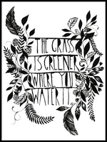 Poster: The Grass, by Sofie Rolfsdotter