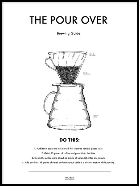 Poster: The Pour Over, by Owl Streets