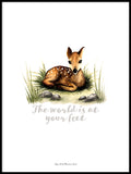 Poster: The world is at your feet (Deer), by Ekkoform illustrations