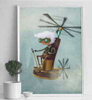 Poster: Thopter Granny, by Discontinued products