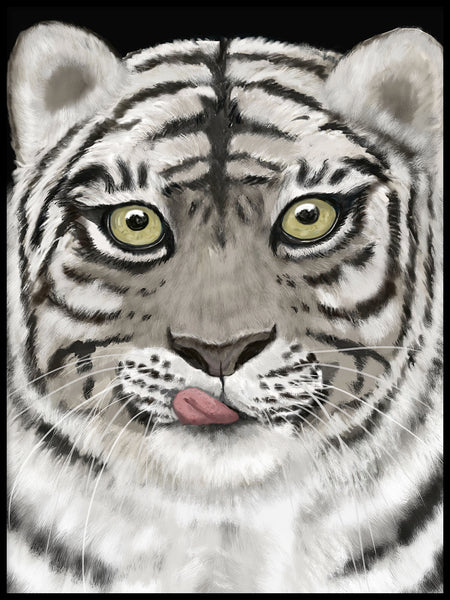 Poster: Tiger, by Lindblom of Sweden