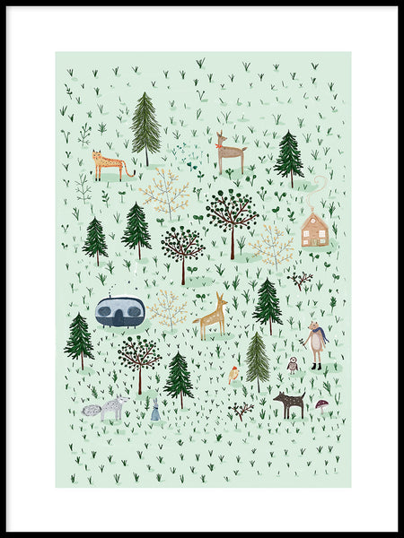Poster: Tiny Forest, av Susse Collection