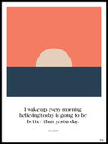 Poster: Today is better than yesterday, by Tim Hansson