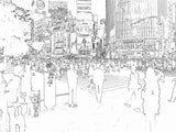 Poster: Tokyo crossing: Shibuya, by Caro-lines