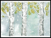 Poster: Three birches, by Annas Design & Illustration