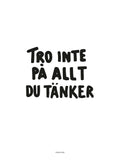 Poster: Tro inte, white, by Discontinued products