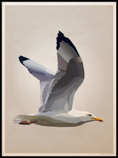Poster: Gull, by Lisa Hult Sandgren