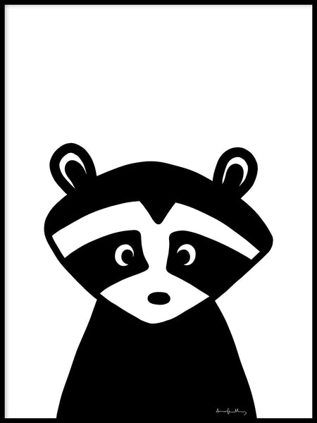 Poster: Raccoon Buddy, by Anna Grundberg