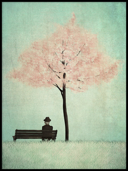 Poster: Under the cherry tree, Spring, av Majali Design & Illustration