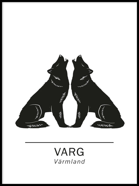 Poster: Wolf the official animals of varmland, Sweden., by Paperago