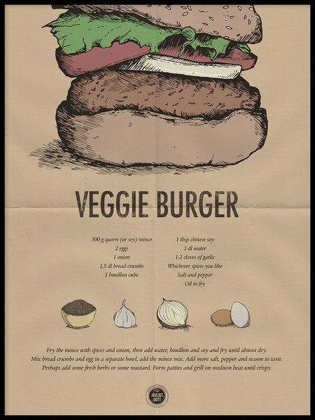 Poster: Veggie Burger, by Owl Streets