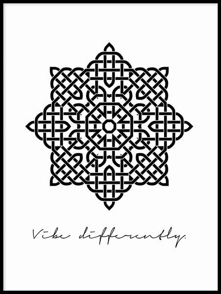 Poster: Vibe Differently, black, by Anna Mendivil / Gypsysoul