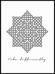 Poster: Vibe Differently, grey, by Anna Mendivil / Gypsysoul
