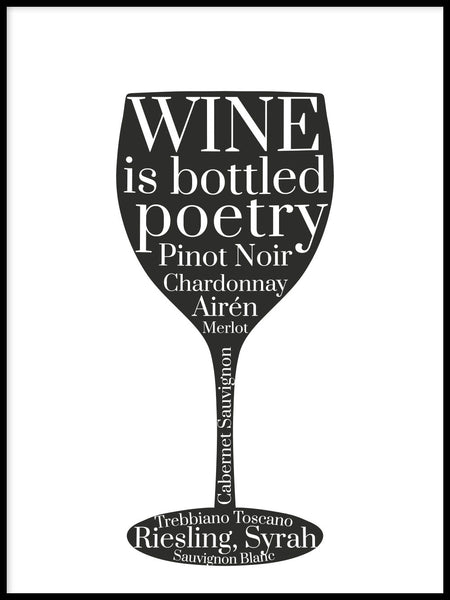Poster: Glass of wine, by GaboDesign