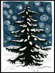 Poster: Winter fir, by Ingrid Fröhlich