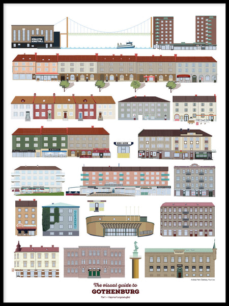 Poster: Visual guide to Gothenburg part I, by Pop-in Local graphics