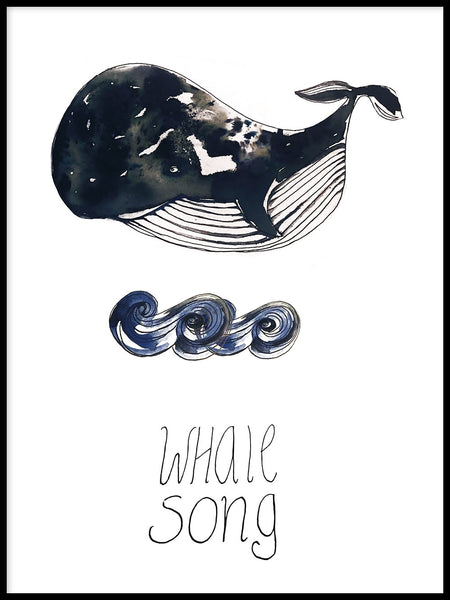 Poster: Whale Song, by Jessica Ahrling
