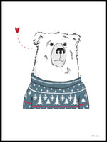 Poster: Winter Bear, by Christina Heitmann