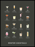 Poster: Winter Cocktails, by Paperago