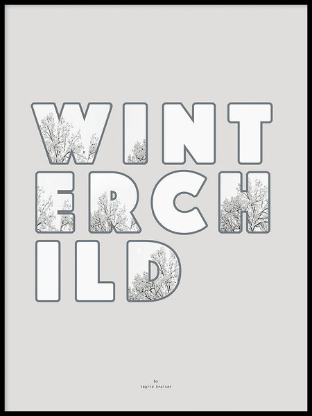 Poster: Winterchild, by Ingrid Kraiser - ingrid art design