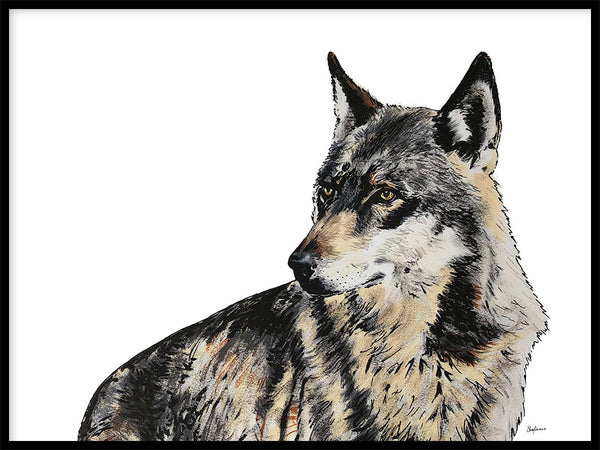 Poster: Wolf, by Stefanie Jegerings