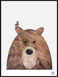 Poster: Wood Bear, by Paperago