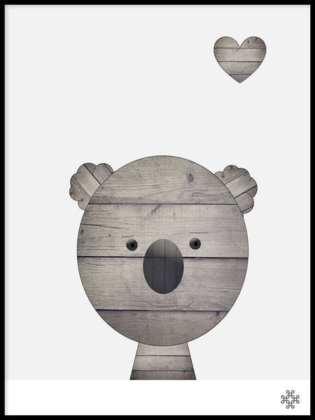 Poster: Wood Koala, by Paperago