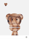 Poster: Wood Monkey, av Paperago