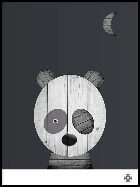 Poster: Wood Panda, by Paperago