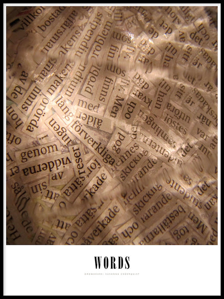 Poster: Words, by Susanna Cederquist