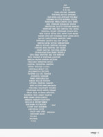 Poster: Sweden, gray-blue, by Caro-lines