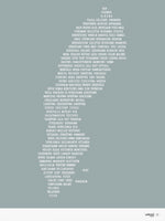 Poster: Sweden, gray-green, by Caro-lines