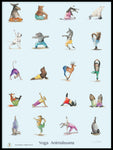 Poster: Yoga Animalsana, by Animo