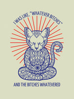 Poster: Yoga Cat Whatever, by Grafiska huset