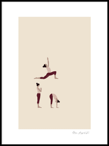 Poster: Yoginis 1, by Miss Papperista