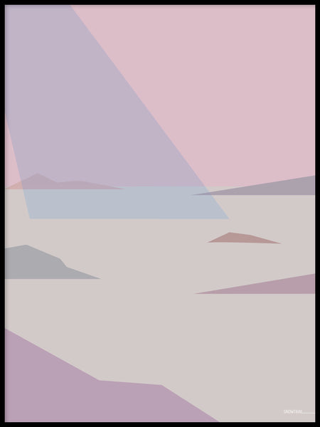 Poster: Archipelago 1, by Jenny Findahl / Snowtrail Design