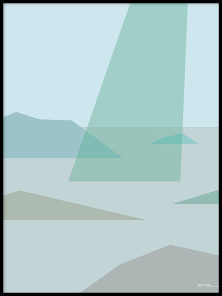 Poster: Archipelago 2, by Jenny Findahl / Snowtrail Design