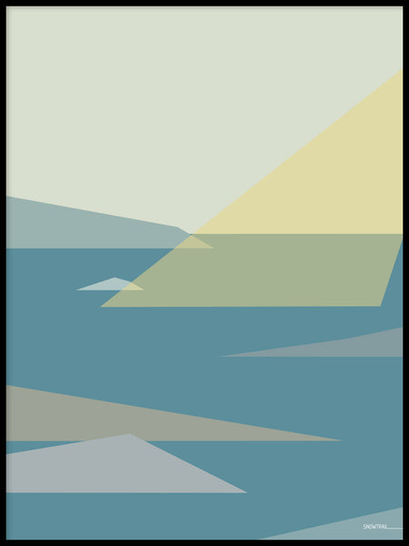 Poster: Archipelago 3, by Jenny Findahl / Snowtrail Design