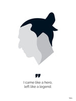 Poster: Zlatan the legend, by Tim Hansson